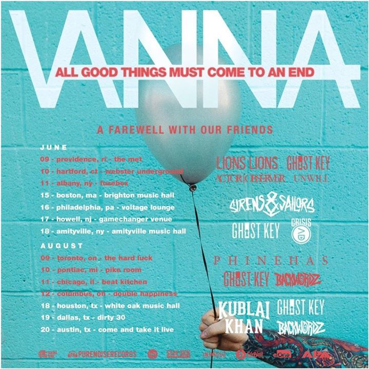 Vanna Tour Dates