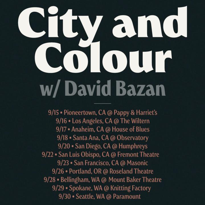 City and Colour @ The Masonic - San Francisco, CA