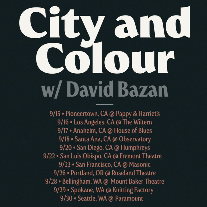 City and Colour @ Roseland Theater - Portland, OR