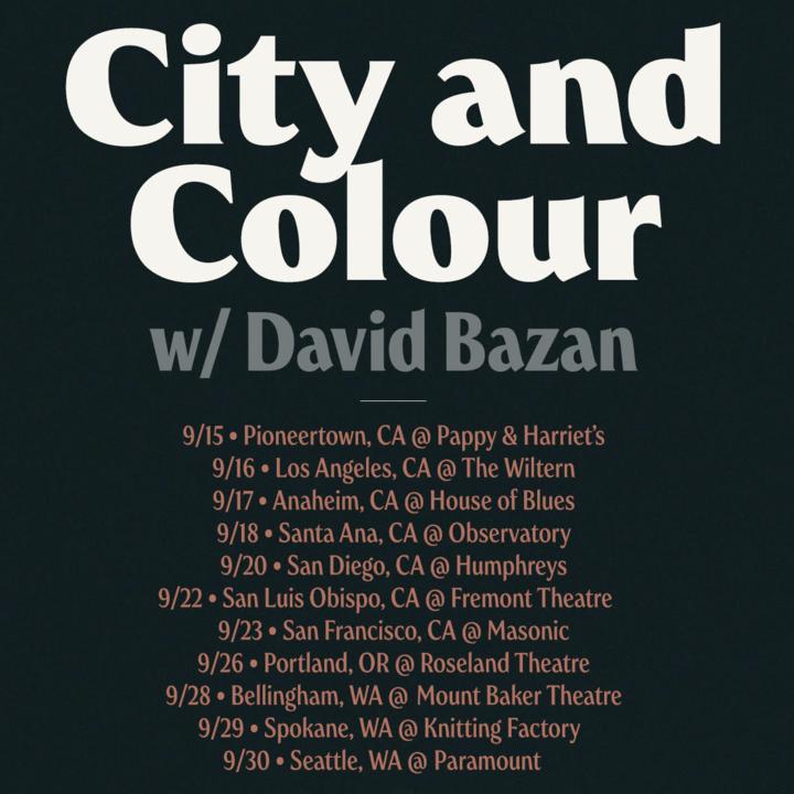 City and Colour @ Paramount Theatre - Seattle, WA