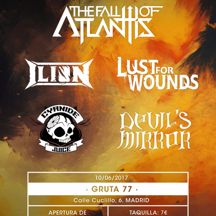 The Fall Of Atlantis Tour Dates