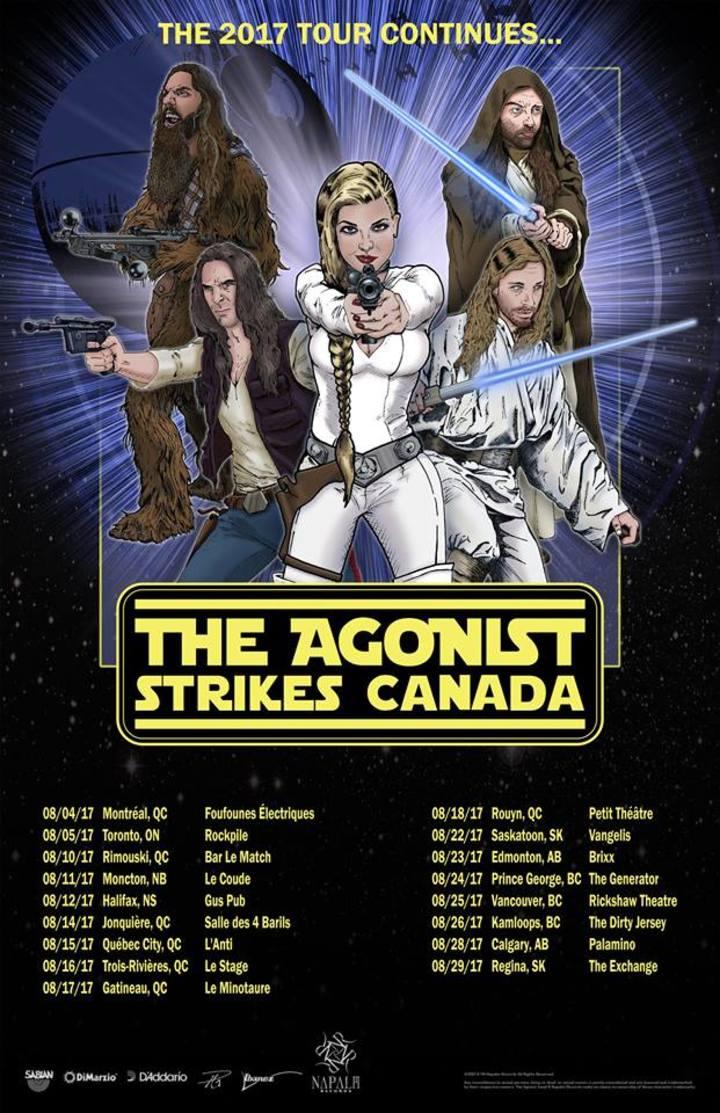 The Agonist @ Salle le 4 Barils - Jonquière, Canada