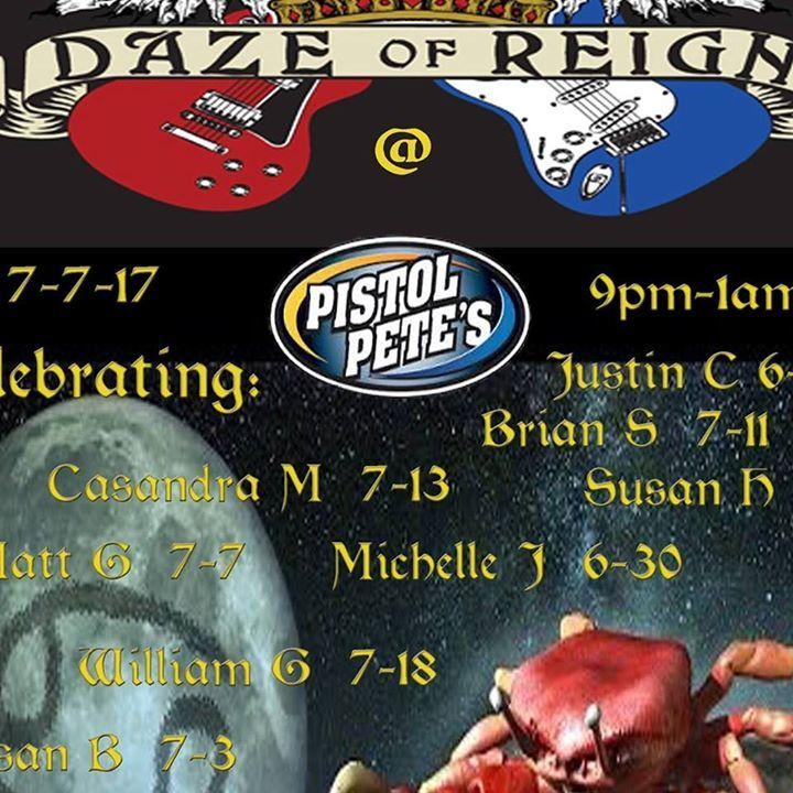 DAZE of REIGN Tour Dates