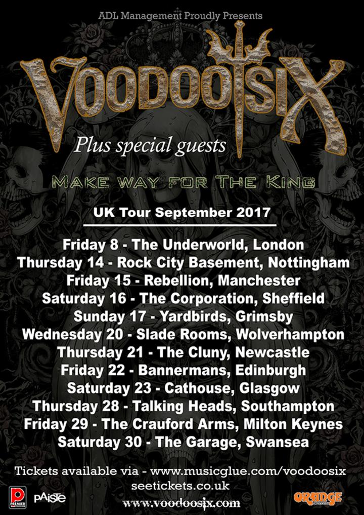 Voodoo Six @ Rock City Basement - Nottingham, United Kingdom