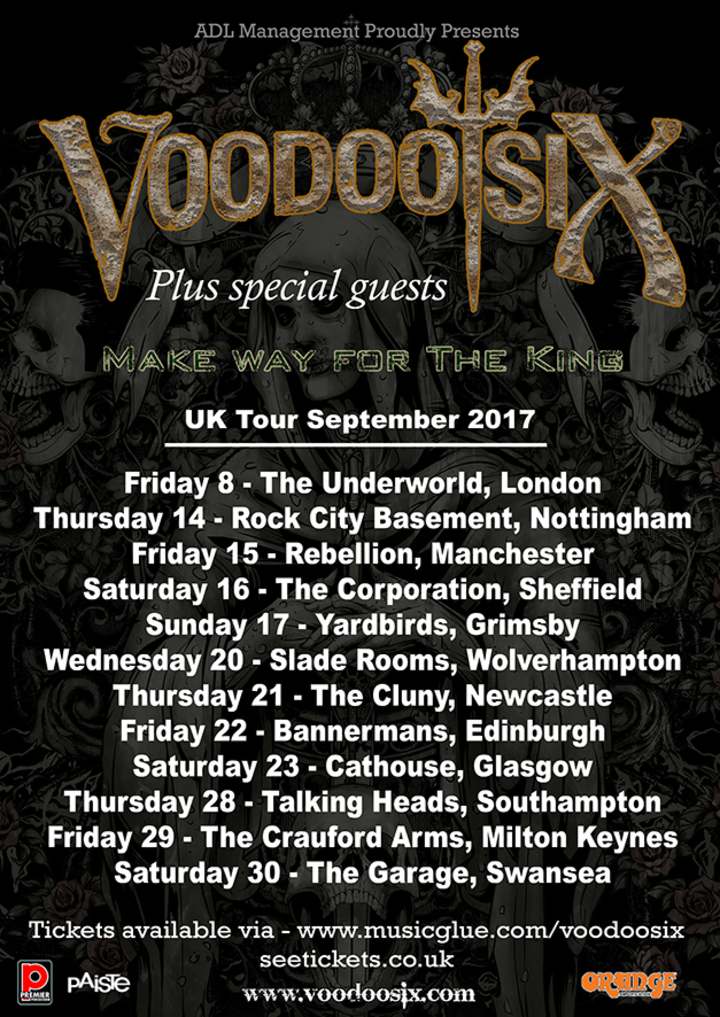 Voodoo Six @ The Cluny - Newcastle Upon Tyne, United Kingdom