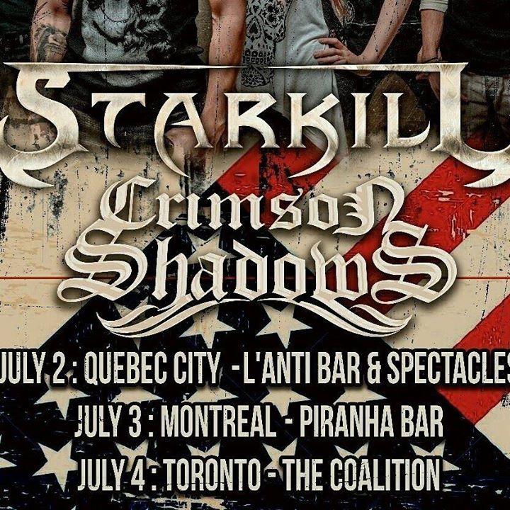Crimson Shadows Tour Dates