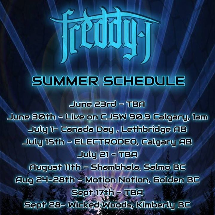 Freddy J Tour Dates