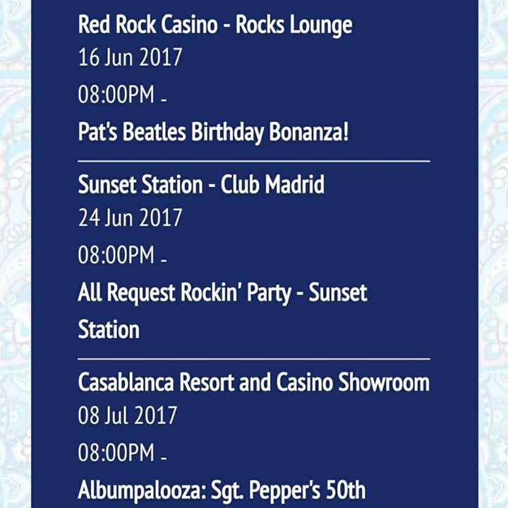 The Fab Tour Dates