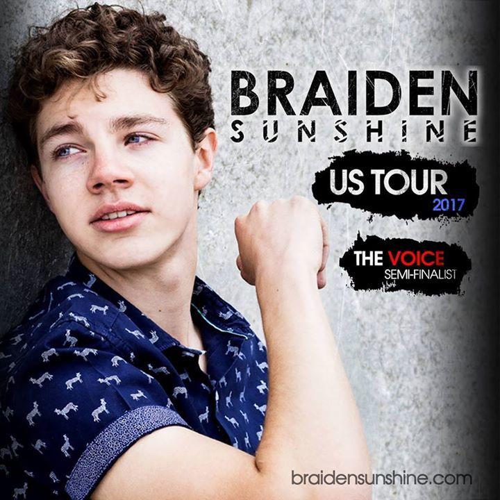 Braiden Sunshine Tour Dates