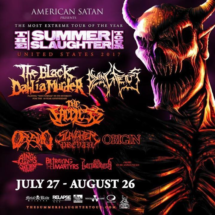 Summer Slaughter Tour @ The Summit Music Hall - Denver, CO