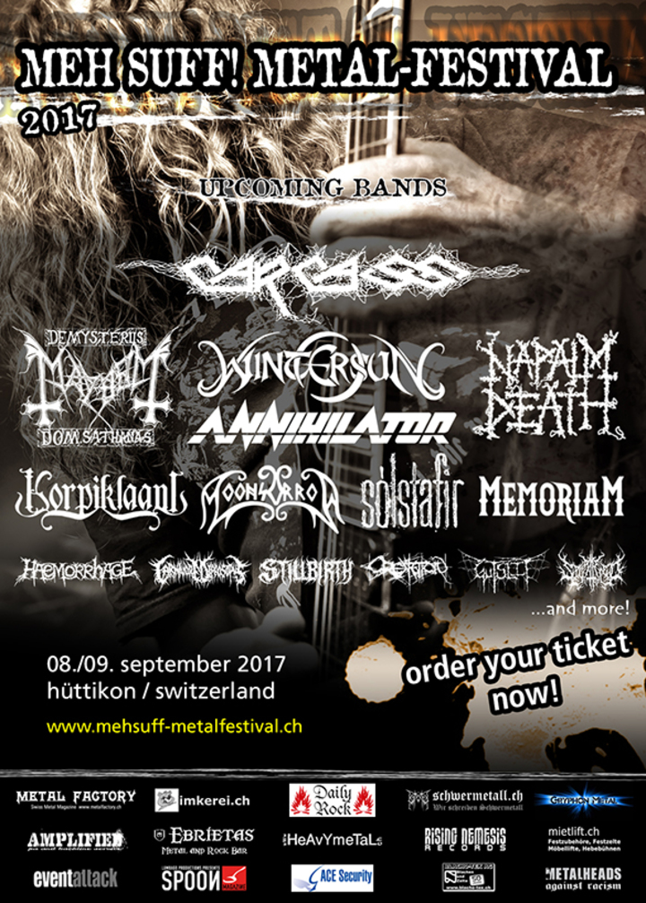 Carcass @ Meh Suff! Metal Festival - Hüttikon, Switzerland