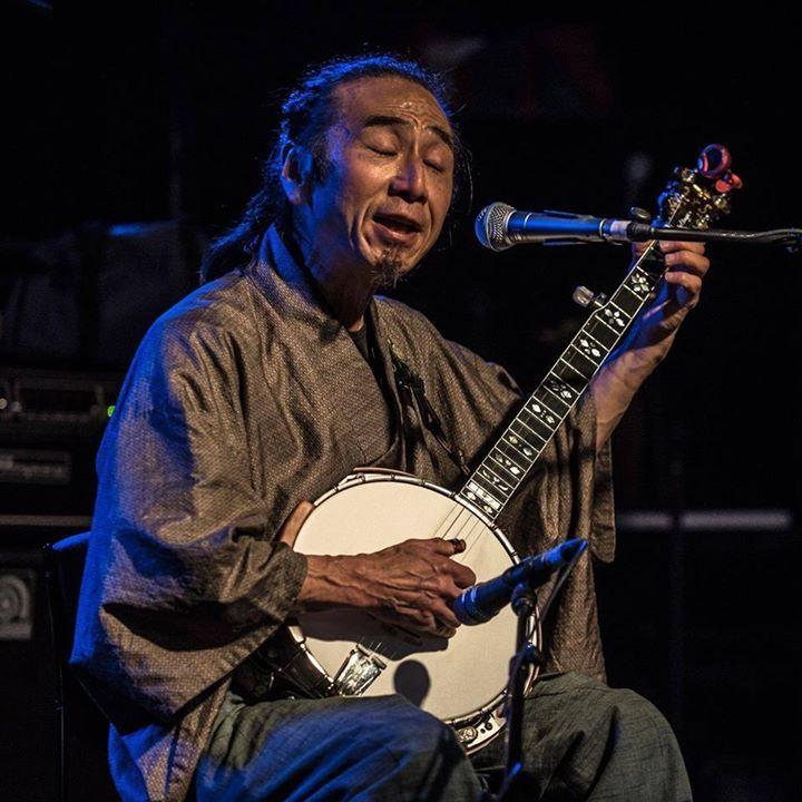 Banjo player Montz Matsumoto @ Cygnet Folk Festival - Cygnet, Australia