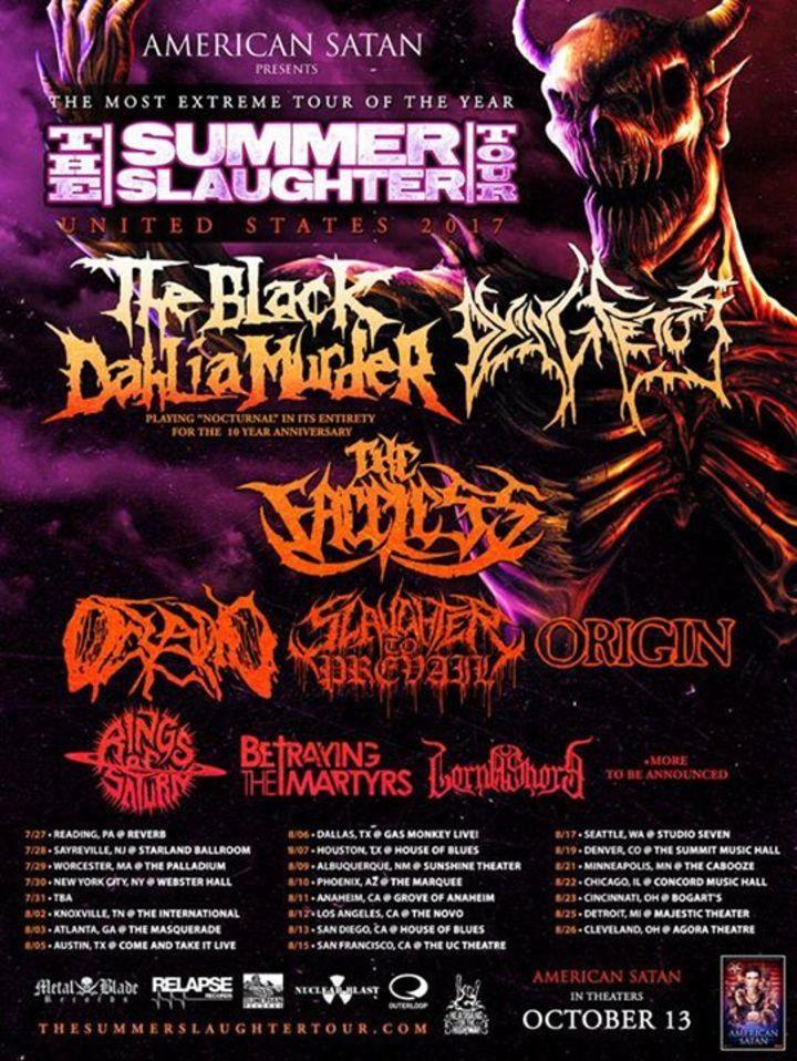 The Black Dahlia Murder Tour Dates
