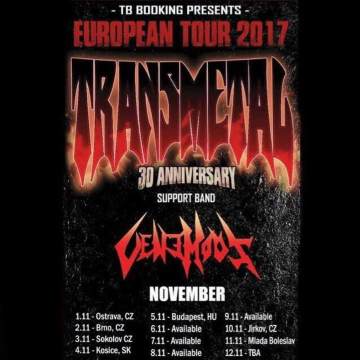 Venemous Tour Dates