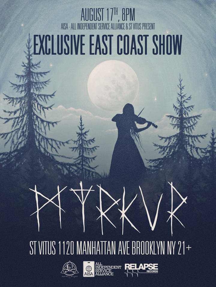Myrkur @ Saint Vitus Bar - Brooklyn, NY