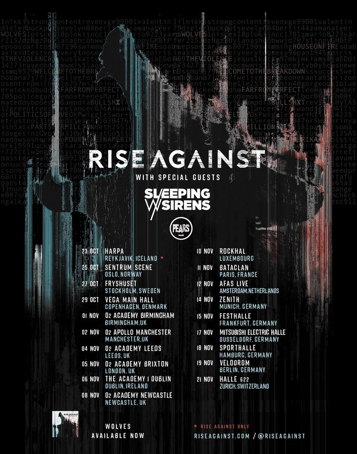 Rise Against @ Rockhal  - Esch-Sur-Alzette, Luxembourg