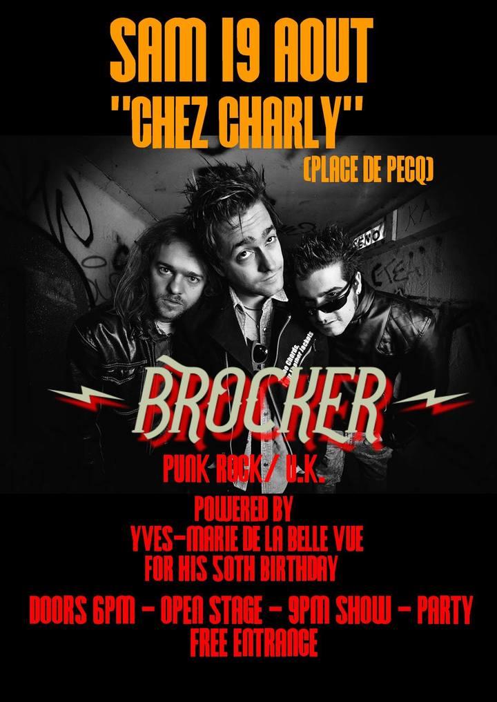 Brocker @ Chez Charly - Pecq, Belgium