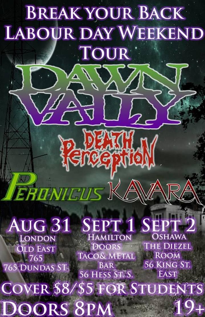 Dawn Vally @ Doors: Taco Joint & Metal Bar - Hamilton, Canada