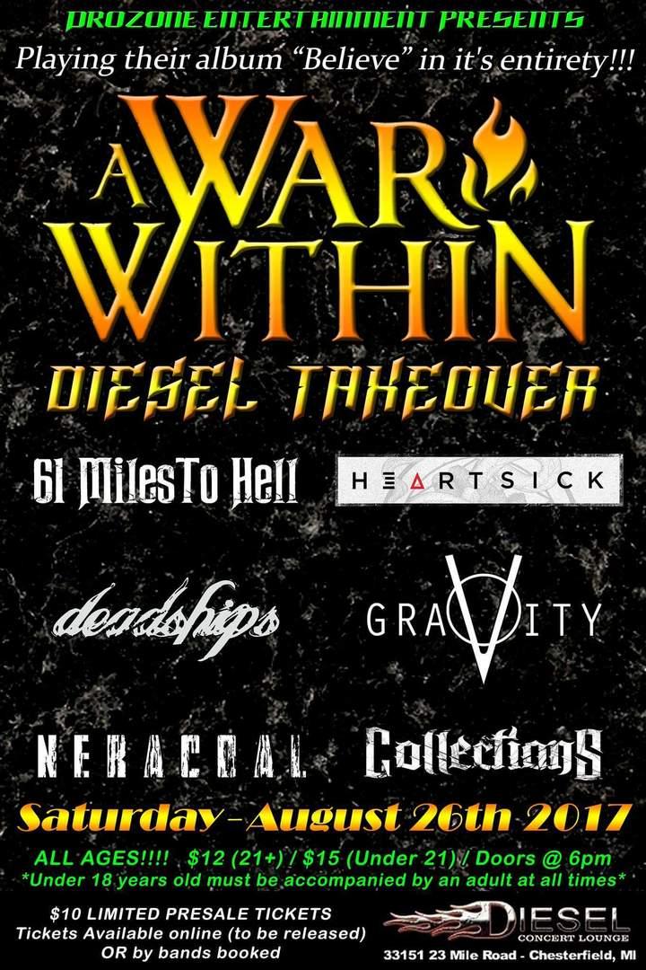 A War Within @ Diesel Concert Lounge - Chesterfield, MI