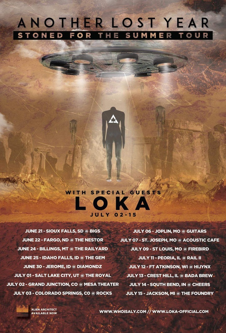 Another Lost Year Tour Dates