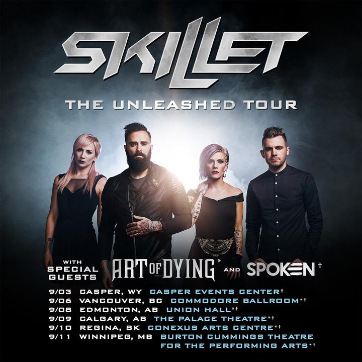 Skillet @ Union Hall - Edmonton, Canada