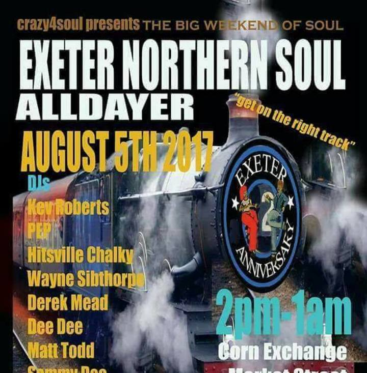 Exeter Northern SOUL Events Tour Dates