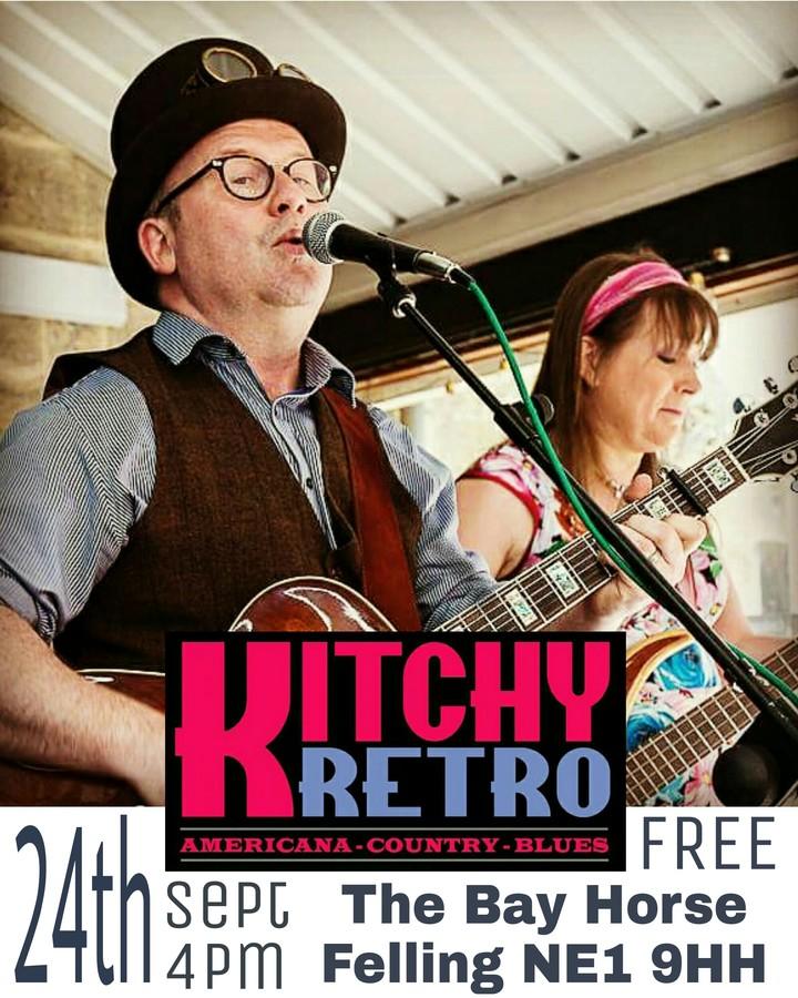 KitchyRetro - Americana Duo @ The Bay Horse FELLING - Gateshead, United Kingdom