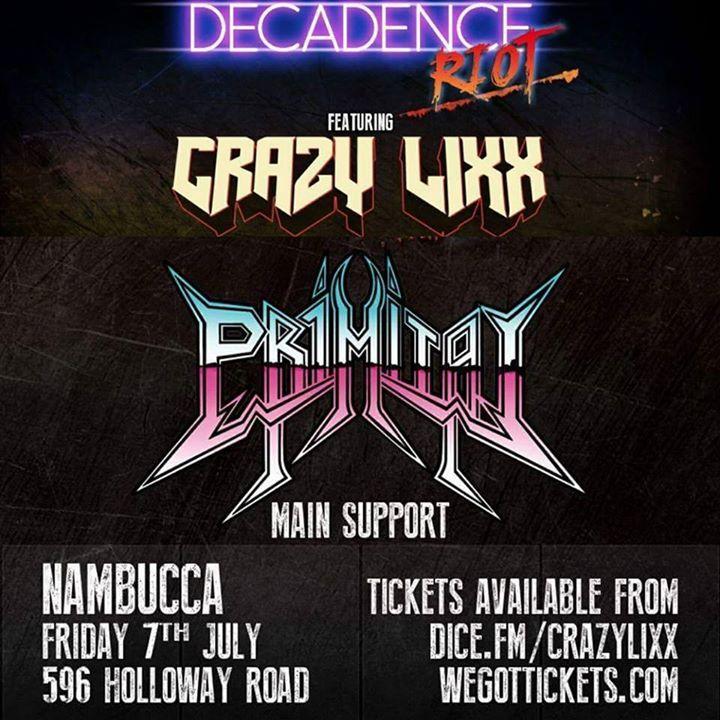 Primitai Tour Dates