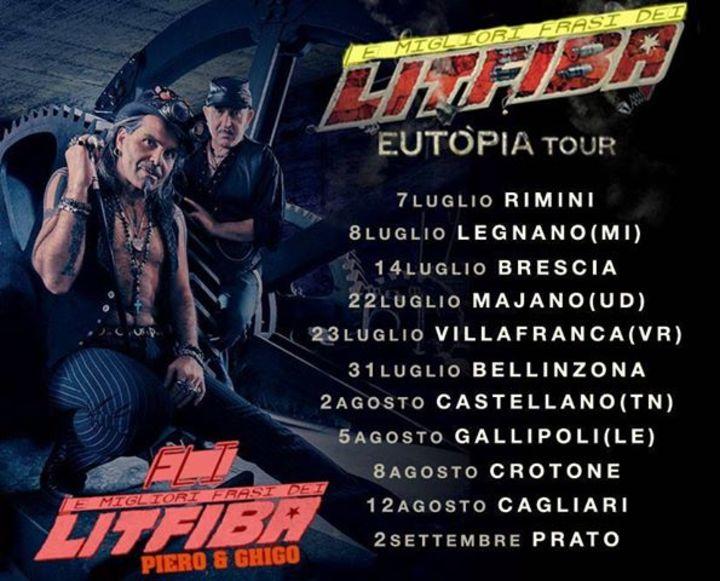Le migliori Frasi dei Litfiba. @ Mediolanum Forum - Milano, Italy