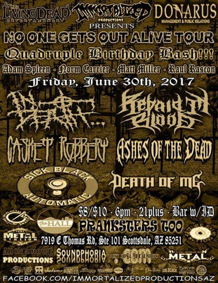 Ashes of The Dead Tour Dates