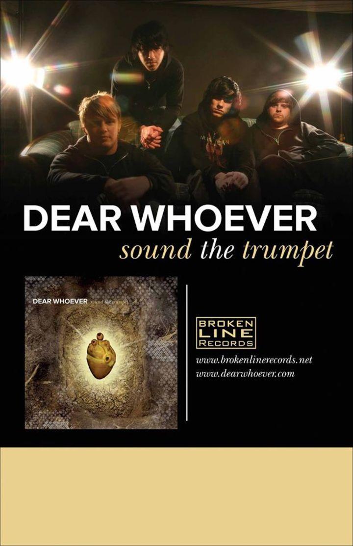 Dear Whoever Tour Dates