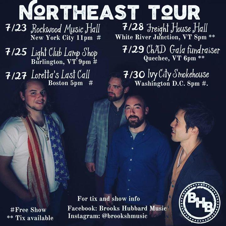 Brooks Hubbard Music Tour Dates