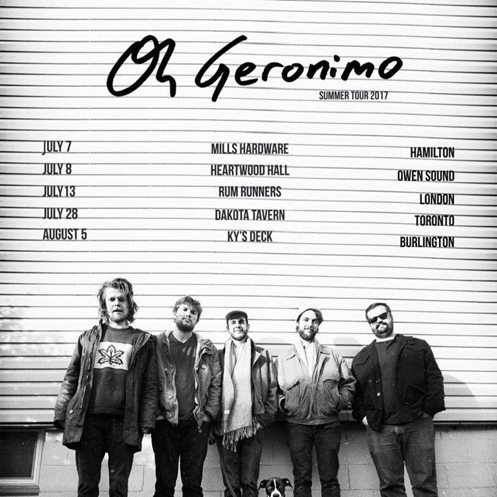 Oh Geronimo Tour Dates
