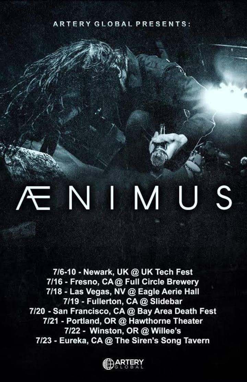 Ænimus Tour Dates