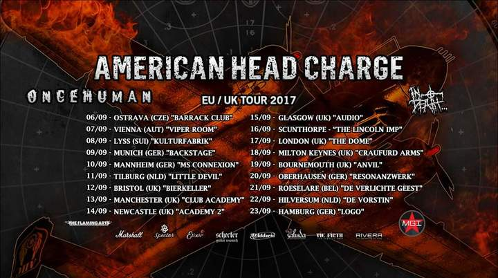 American Head Charge Tour Dates