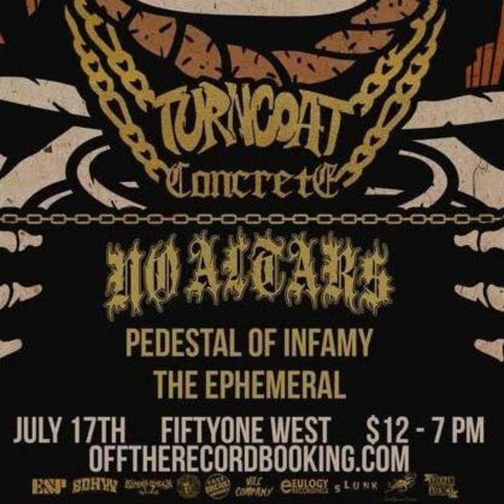 Pedestal Of Infamy Tour Dates