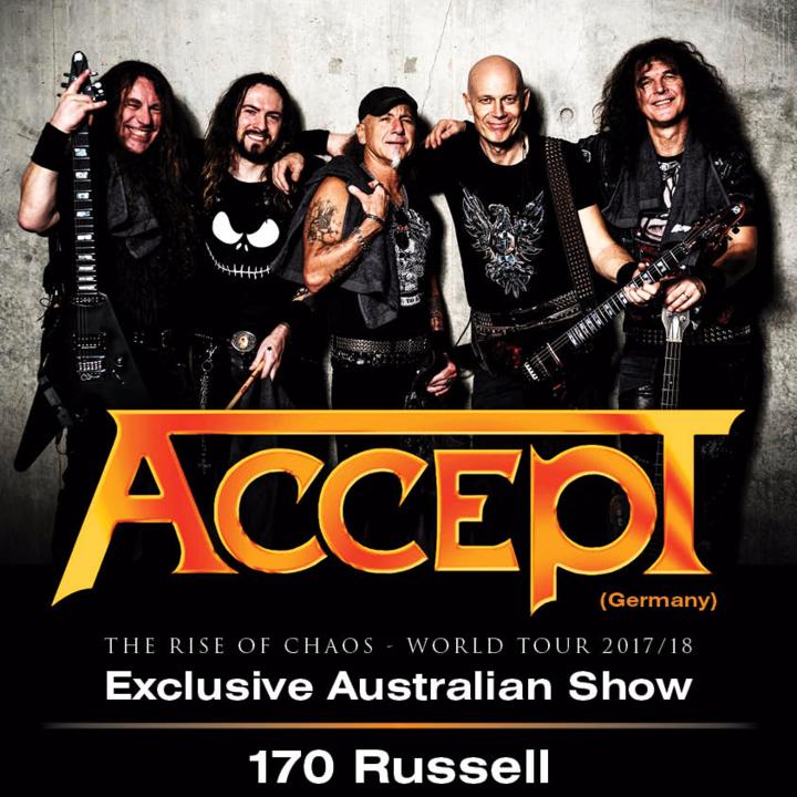 Accept @ 170 Russell - Melbourne, Australia