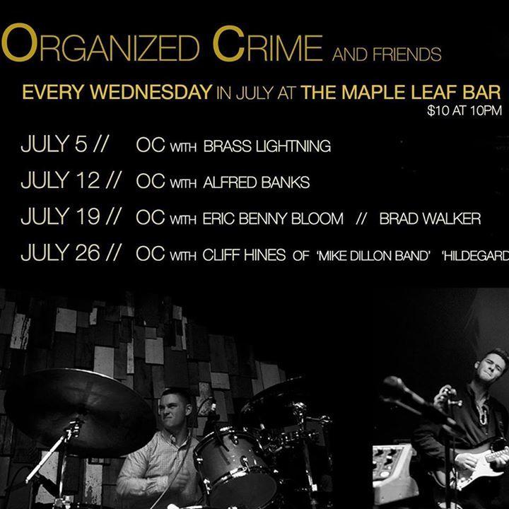 Organized Crime Tour Dates