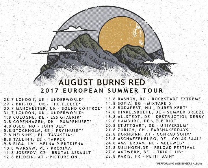 August Burns Red @ Parc Jean-Drapeau - Montréal, Canada