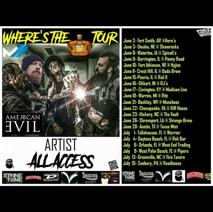 American Evil Tour Dates