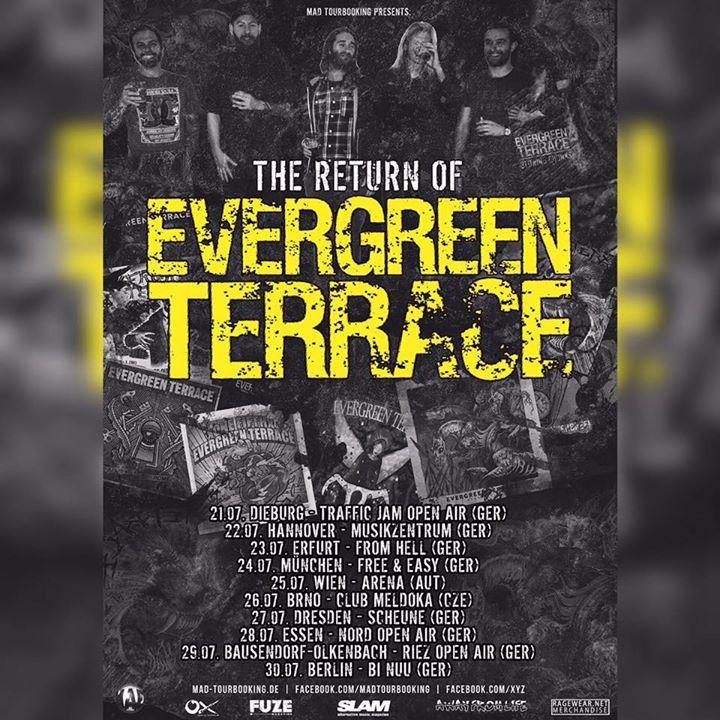 Evergreen Terrace Tour Dates