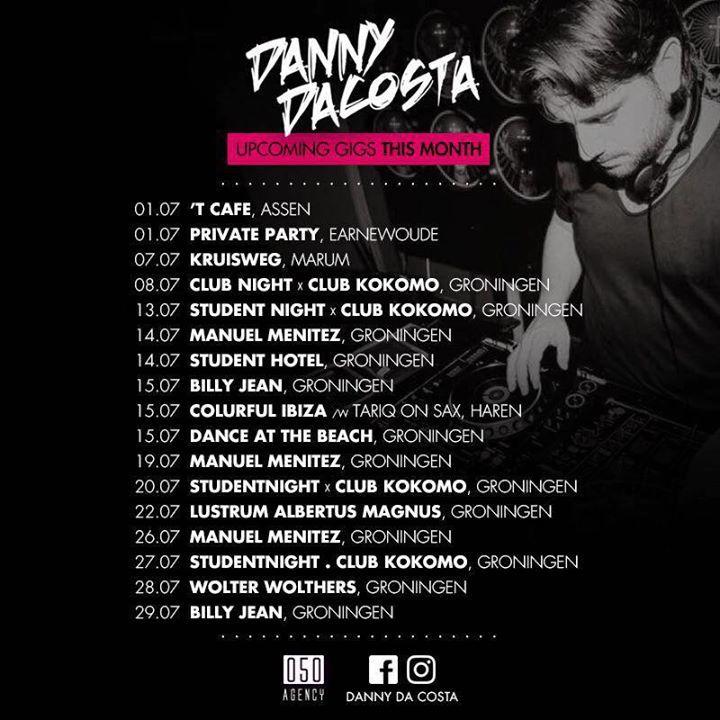 Danny Da Costa Tour Dates