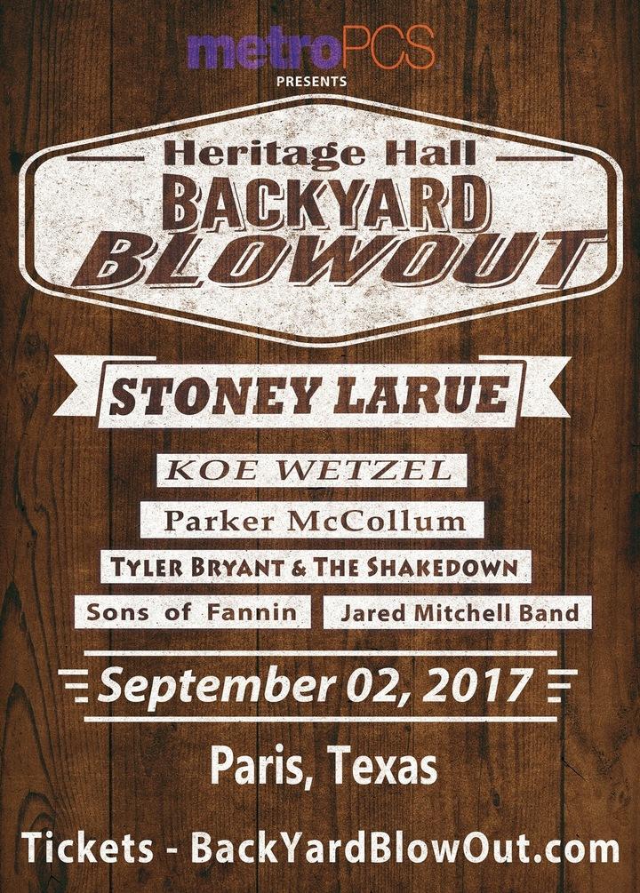 Jared Mitchell Band @ Heritage Hall - Paris, TX