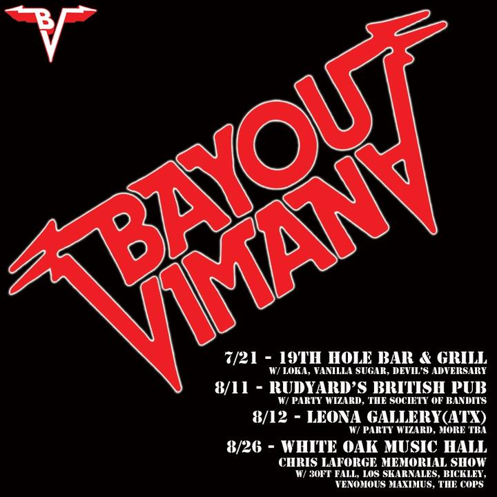 Bayou Vimana Tour Dates