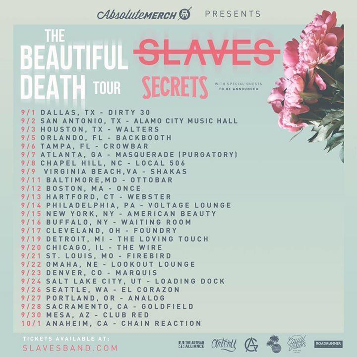 Slaves Tour Dates
