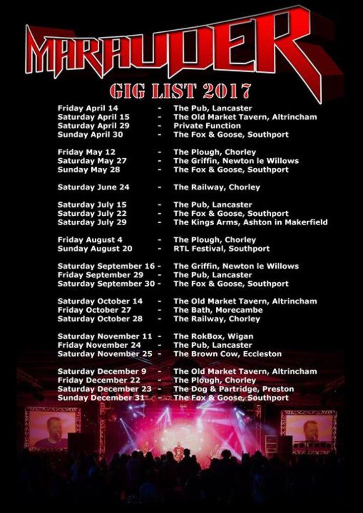 Marauder - Hard rock and metal covers Tour Dates
