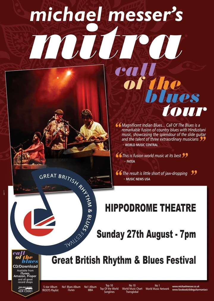 Michael Messer's Mitra @ Great British Rhythm & Blues Festival  - Colne, United Kingdom