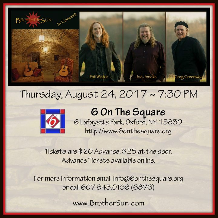 Brother Sun @ 6 On The Square - Oxford, NY
