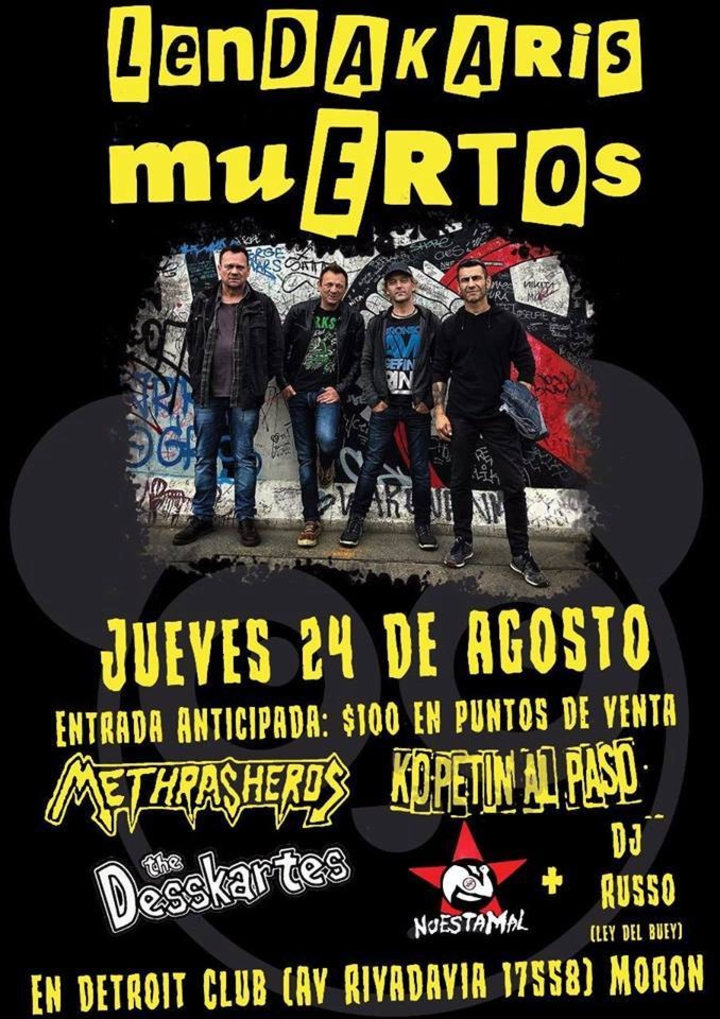Lendakaris Muertos @ Il Pranzo - Villa De Mayo, Argentina