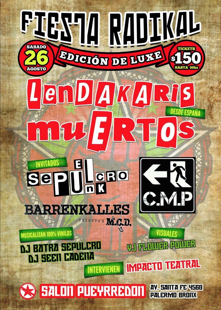 Lendakaris Muertos @ Salón Puyrredón - Buenos Aires City, Argentina